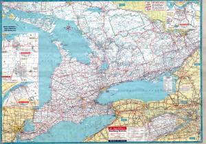 Ontario 1961 Highway Map